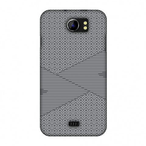 Carbon Fibre Redux Stone Gray 6 Slim Hard Shell Case For Micromax Canvas 2 A110