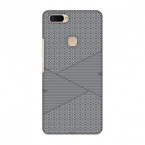 Carbon Fibre Redux Stone Gray 6 Slim Hard Shell Case For Vivo X20 Plus