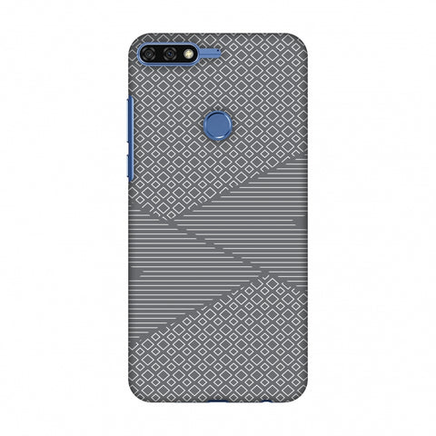 Carbon Fibre Redux Stone Gray 6 Slim Hard Shell Case For Huawei Honor 7C