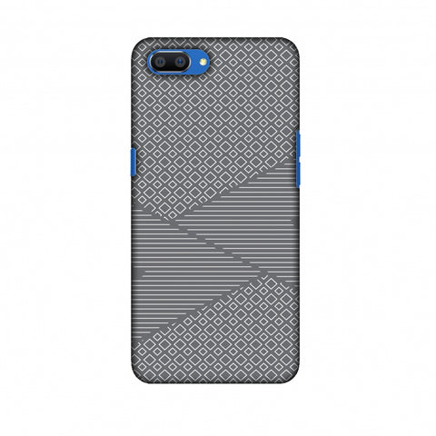 Carbon Fibre Redux Stone Gray 6 Slim Hard Shell Case For Oppo Realme C1