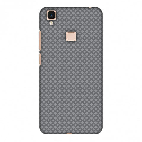 Carbon Fibre Redux Stone Gray 7 Slim Hard Shell Case For Vivo V3 Max