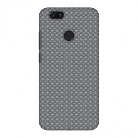 Carbon Fibre Redux Stone Gray 7 Slim Hard Shell Case For Xiaomi MI A1-5X