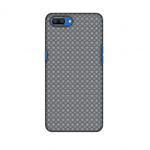 Carbon Fibre Redux Stone Gray 7 Slim Hard Shell Case For Oppo Realme C1