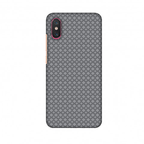 Carbon Fibre Redux Stone Gray 7 Slim Hard Shell Case For Xiaomi Mi 8 Pro