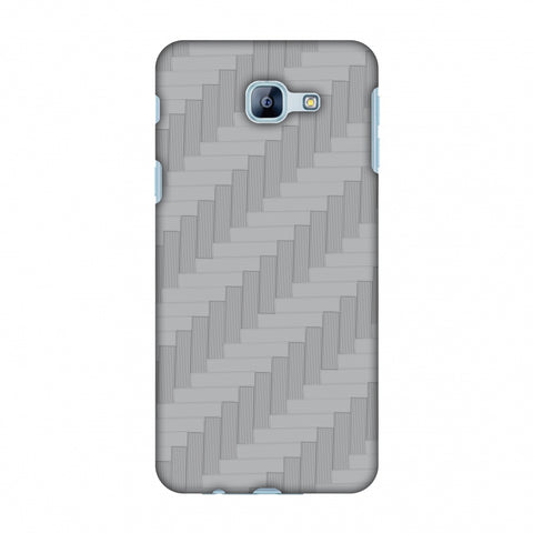 Carbon Fibre Redux Stone Gray 8 Slim Hard Shell Case For Samsung Galaxy A8 2016