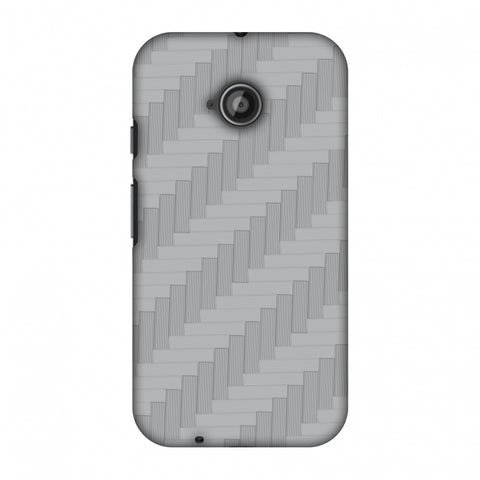 Carbon Fibre Redux Stone Gray 8 Slim Hard Shell Case For Motorola Moto E 2nd Gen