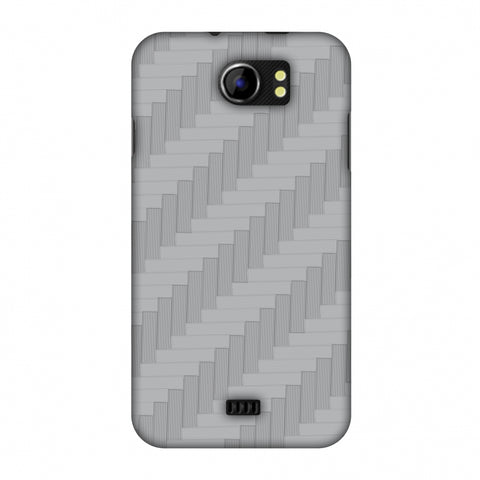 Carbon Fibre Redux Stone Gray 8 Slim Hard Shell Case For Micromax Canvas 2 A110