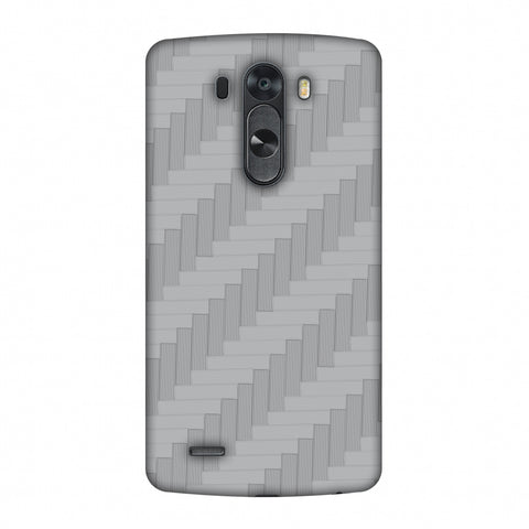 Carbon Fibre Redux Stone Gray 8 Slim Hard Shell Case For LG G4