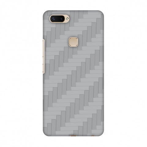 Carbon Fibre Redux Stone Gray 8 Slim Hard Shell Case For Vivo X20 Plus