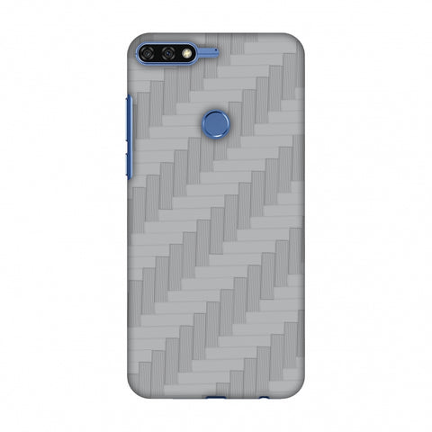 Carbon Fibre Redux Stone Gray 8 Slim Hard Shell Case For Huawei Honor 7C