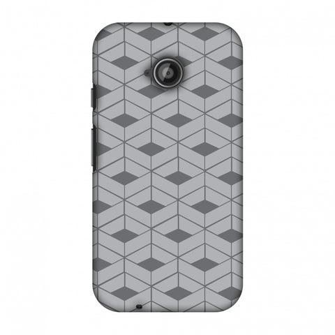 Carbon Fibre Redux Stone Gray 9 Slim Hard Shell Case For Motorola Moto E 2nd Gen