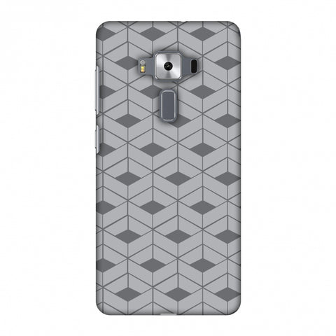 Carbon Fibre Redux Stone Gray 9 Slim Hard Shell Case For Asus Zenfone 3 Deluxe ZS570KL