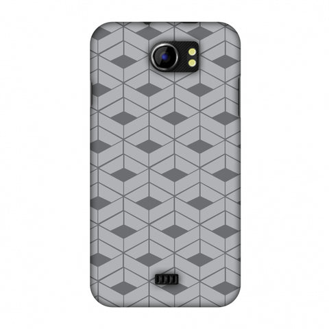Carbon Fibre Redux Stone Gray 9 Slim Hard Shell Case For Micromax Canvas 2 A110