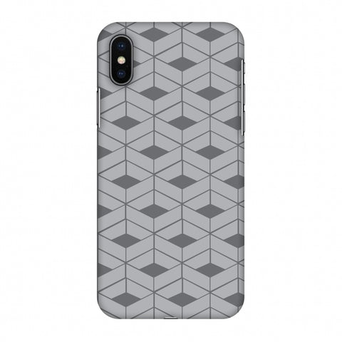 Carbon Fibre Redux Stone Gray 9 Slim Hard Shell Case For Apple iPhone X