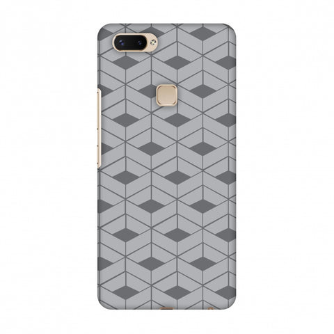 Carbon Fibre Redux Stone Gray 9 Slim Hard Shell Case For Vivo X20 Plus