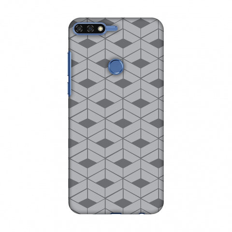 Carbon Fibre Redux Stone Gray 9 Slim Hard Shell Case For Huawei Honor 7C