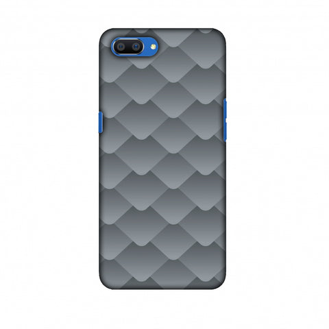 Carbon Fibre Redux Stone Gray 10 Slim Hard Shell Case For Oppo Realme C1