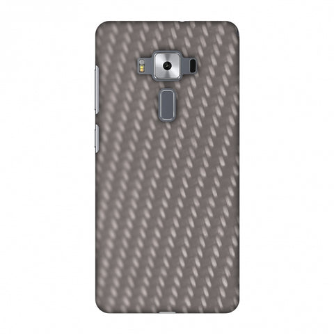 Carbon Fibre Redux Stone Gray 12 Slim Hard Shell Case For Asus Zenfone 3 Deluxe ZS570KL