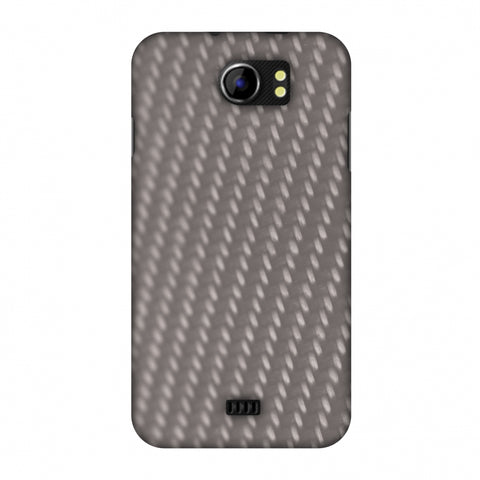 Carbon Fibre Redux Stone Gray 12 Slim Hard Shell Case For Micromax Canvas 2 A110