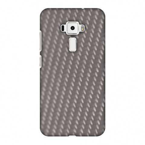 Carbon Fibre Redux Stone Gray 12 Slim Hard Shell Case For Asus Zenfone 3 ZE520KL