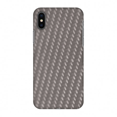 Carbon Fibre Redux Stone Gray 12 Slim Hard Shell Case For Apple iPhone X