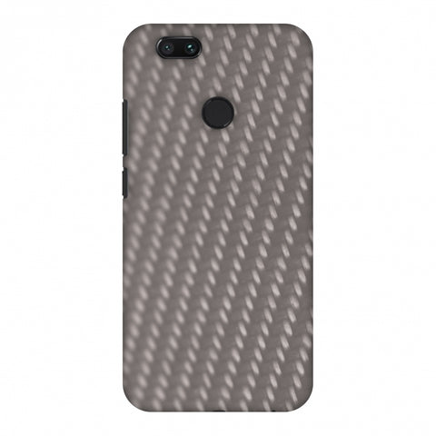 Carbon Fibre Redux Stone Gray 12 Slim Hard Shell Case For Xiaomi MI A1-5X