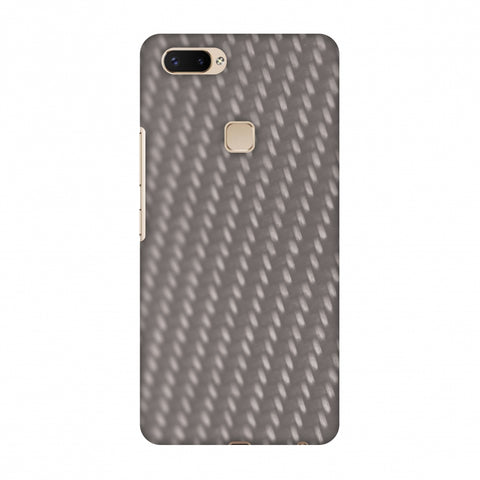 Carbon Fibre Redux Stone Gray 12 Slim Hard Shell Case For Vivo X20 Plus