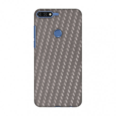 Carbon Fibre Redux Stone Gray 12 Slim Hard Shell Case For Huawei Honor 7C