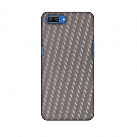 Carbon Fibre Redux Stone Gray 12 Slim Hard Shell Case For Oppo Realme C1