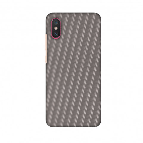 Carbon Fibre Redux Stone Gray 12 Slim Hard Shell Case For Xiaomi Mi 8 Pro