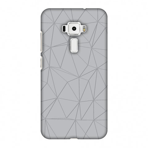 Carbon Fibre Redux Stone Gray 13 Slim Hard Shell Case For Asus Zenfone 3 ZE520KL