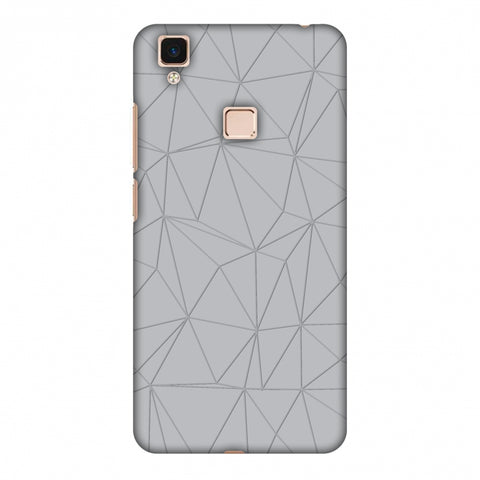 Carbon Fibre Redux Stone Gray 13 Slim Hard Shell Case For Vivo V3 Max