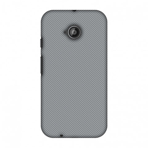 Carbon Fibre Redux Stone Gray 16 Slim Hard Shell Case For Motorola Moto E 2nd Gen