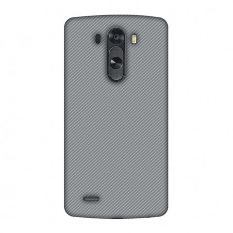 Carbon Fibre Redux Stone Gray 16 Slim Hard Shell Case For LG G4