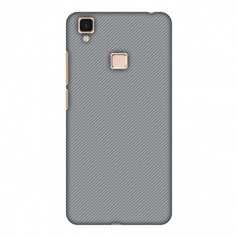 Carbon Fibre Redux Stone Gray 16 Slim Hard Shell Case For Vivo V3 Max
