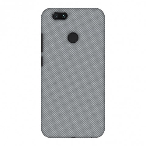Carbon Fibre Redux Stone Gray 16 Slim Hard Shell Case For Xiaomi MI A1-5X