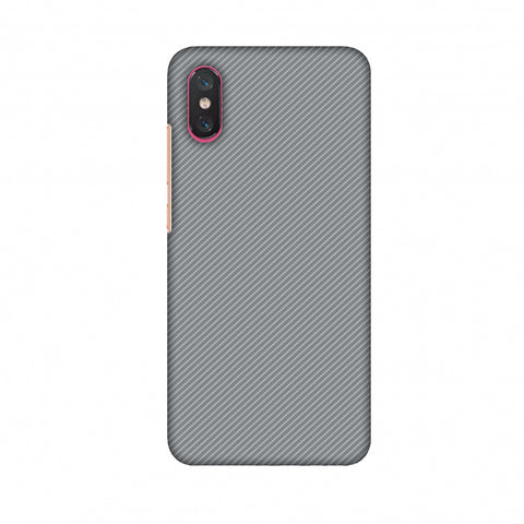 Carbon Fibre Redux Stone Gray 16 Slim Hard Shell Case For Xiaomi Mi 8 Pro