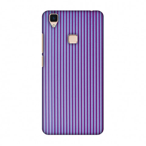 Carbon Fibre Redux Electric Violet 8 Slim Hard Shell Case For Vivo V3
