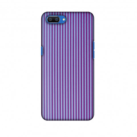 Carbon Fibre Redux Electric Violet 8 Slim Hard Shell Case For Oppo Realme C1