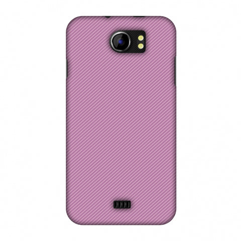 Carbon Fibre Redux Electric Violet 9 Slim Hard Shell Case For Micromax Canvas 2 A110