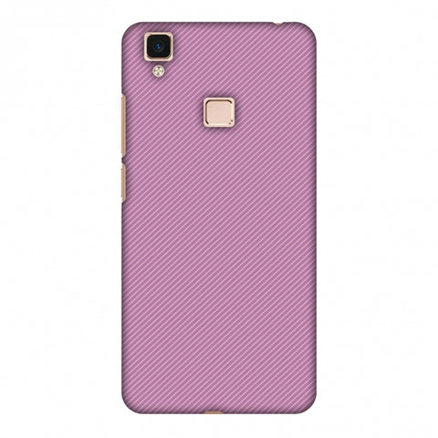 Carbon Fibre Redux Electric Violet 9 Slim Hard Shell Case For Vivo V3 Max
