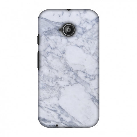 White Marble 1 Slim Hard Shell Case For Motorola Moto E 2nd Gen