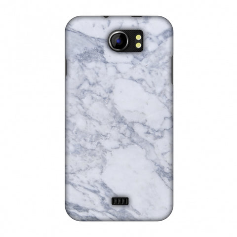 White Marble 1 Slim Hard Shell Case For Micromax Canvas 2 A110