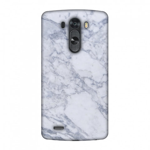 White Marble 1 Slim Hard Shell Case For LG G4