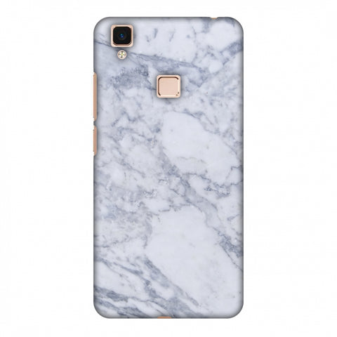 White Marble 1 Slim Hard Shell Case For Vivo V3 Max