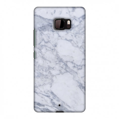 White Marble 1 Slim Hard Shell Case For HTC U Ultra