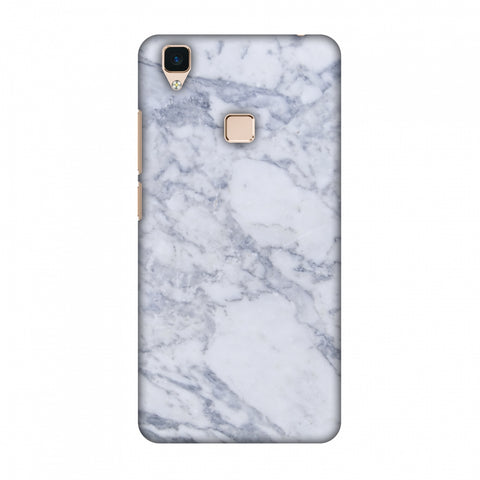 White Marble 1 Slim Hard Shell Case For Vivo V3