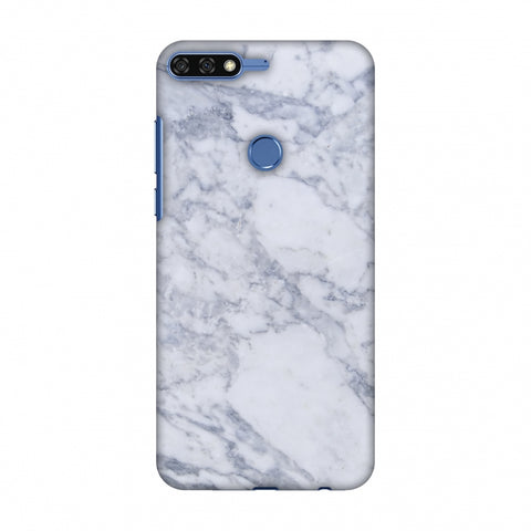 White Marble 1 Slim Hard Shell Case For Huawei Honor 7C