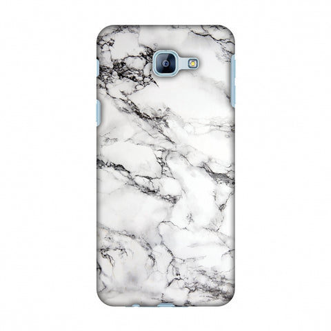 White Marble 2 Slim Hard Shell Case For Samsung Galaxy A8 2016
