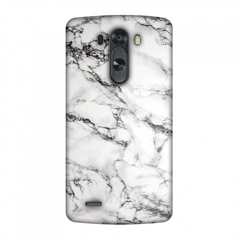 White Marble 2 Slim Hard Shell Case For LG G4